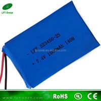 523450 dvd 7.4v 1000mah rechargeable battery pack