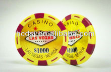 Two-tone sticker poker chips, First-class poker chips,Custom poker chips