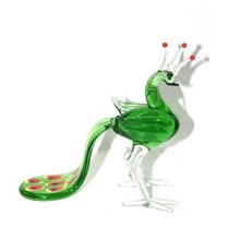 New Crystal Gifts Peacock Craft Green Decoration