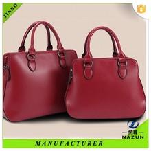 China limited good leather lady wine red handbag soft women bag
