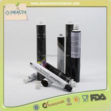 Flat Aluminum Cream Collapsible Tube, Octagon Cap Collapsible Tube, Printed Empty Collapsible Tube