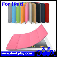 Auto Magnetic Wake Up and Sleep Leather case For iPad3 Smart Cover Case