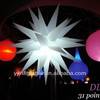 Romantic led inflatable lighting showroom event party decoration