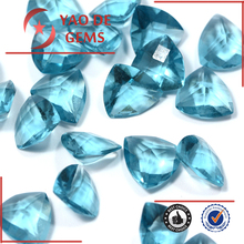 Trillion Cut Aquamarine Glass Stone in Semi Precious Stone Loose Gemstone Wholesale Price