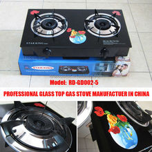 black glass gas cooktop (RD-GD002-5)