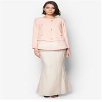 New fashion muslim chiffon maxi dresses with lace 2015 Hot sale jubah muslimah in malaysia Long sleeve muslim jubah