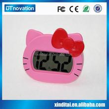 Hello kitty snooze light alarm clock table travel clock