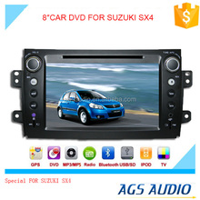 touch screen car dvd mp3 mp4 player for SUZUKI sx4 with reversing camera/car cassette/cd dvd/gps