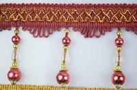 elegant fringe beaded curtain lace,red beaded fringe bead tassel