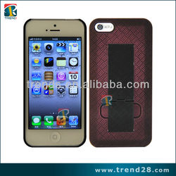 Hot selling Braided pattern Stand PC crystal case for Iphone 5