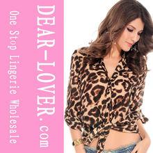 venta al por mayor de lujo de leopardo pura revelando blusas