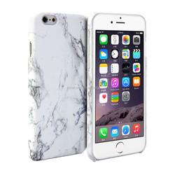 For iPhone 6 Case - Hard Case phone Print Crystal - White Marble Pattern Cover