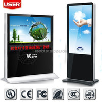 Free standing 55 inch Interactive Wifi 3G Network ad player, Touch screen kiosk