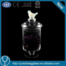 2015 new style glassware water bird for sale glass candy jar