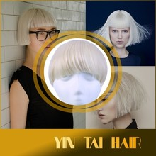 Multi Color Clip-on Fringe Clip Natural Hair Bangs, 100% Virgin Remy Indian Hair Bangs Extension