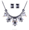 fashion exaggeration flower necklace,diamond necklace and earring set from skysweet(SWTPR1530)