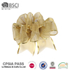 Hot Sale polyester organza gold wired ribbon for making bows