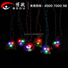2015 hot sale LED pendant necklace for halloween promotional kids gift
