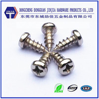 Dongguan JINJIA offer high quality 304 stainless steel metal screw