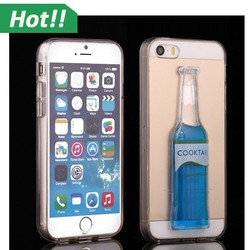 Soft TPU Case Cocktail Phone Case Mobile Phone Case Lovely Back Cover For iPhone 5S
