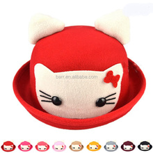 Handwork mixed colour red cartoon colour baby bucket hat