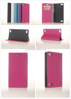 gold sand style Wallet Leather case cover with card holder for blackberry BB z3