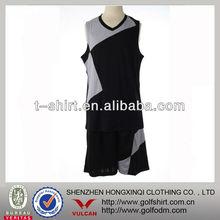 2013 custom Team name men black basketball suit