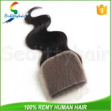Wholesale human hair body wave lace front closure Brazilian virgin hair 4*4 lace top closure body wave lace closure