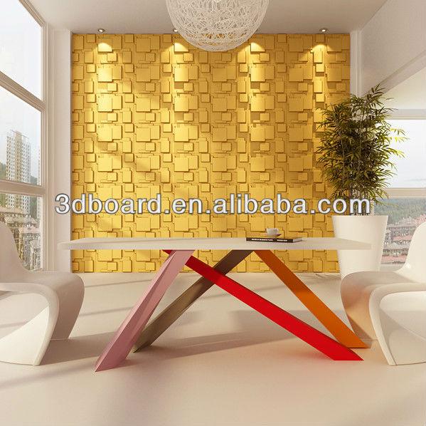 Paneles de pared 3d usados en paredes interiores decoraci n - Paneles para paredes interiores ...