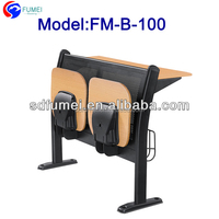 FM-B-100 Commercial wood and metal school desk and chair for student