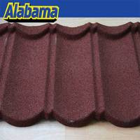 Wind resistance tile colored aluminium, brown metal roof tile