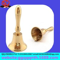Manufacturers selling hardware metal handle 3 inch 76*170MM hand shaking bell bronze brass copper school class bell