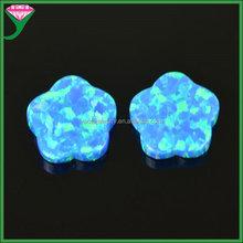 Azure blue opal stone/Lily flower opal/5 Petals flower Opal