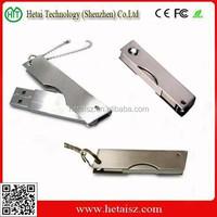 OEM 2GB-16GB Promotional Metal Swivel Key Chain USB Flash Drive pen drive,Wholesale Customized Metal Twister USB Memory Stick