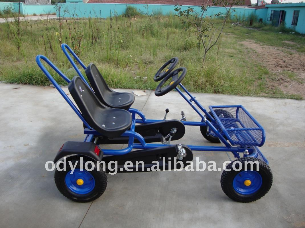 double personne go kart p dale 4 roues v lo karting id du produit 496900038. Black Bedroom Furniture Sets. Home Design Ideas