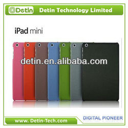 Hot Sale High Quanlity Grit Plastic hard cover for iPad Mini (6 colors)