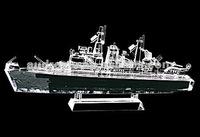 Antique crystal ship model for sale
