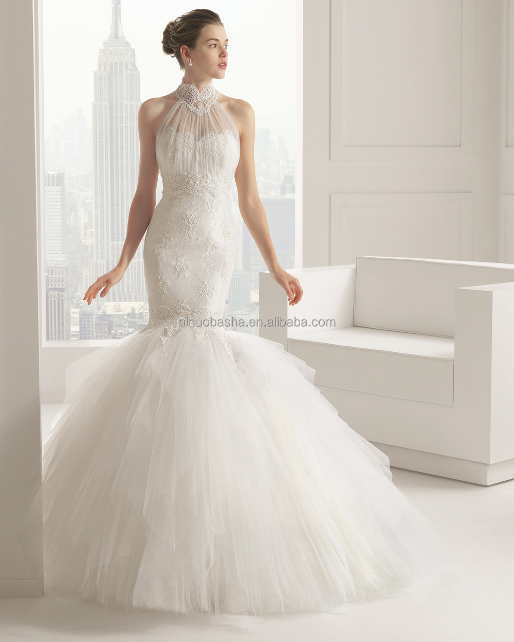 Wholesale Sexy Bottom Tiered Tulle Skirt Mermaid Wedding