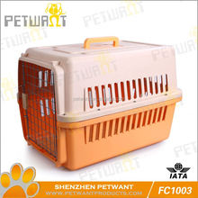 Colorful individual package exportable standard carton dog cage abs pan