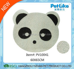 Printed PVC pet mat Panda face pet dog and cat feeding mat