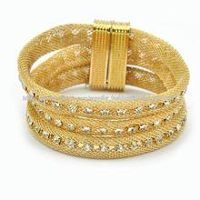 nuevo diseño oro pulsera hebilla magnética