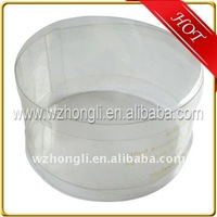 Clear round plastic gift box