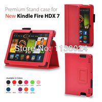 Stand leather case cover folio case for Amazon Kindle Fire HDX 7 3013