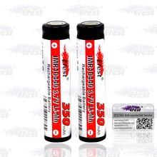 High quality 10440 350mah battery black 10440 li-ion rechargeable battery 3.7v efest 10440 battery-2pcs