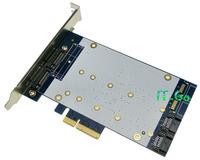 Marvell 9230 SATA 3.0 + 2 NGFF (m.2) Port PCI express 4 x Card RAID0, RAID1,RAID10,and HyperDuo card