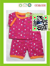 girls dots print custom printed pajamas ODM&OEM MY-B0050