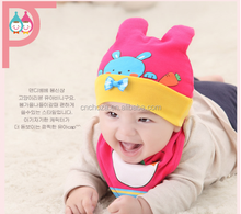 Z10317B Cute bunny ears hat knit cap 2015 new children's winter cotton baby hat
