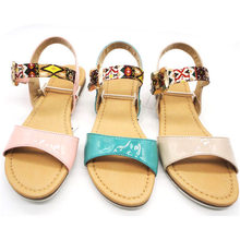 Top quality 2013 new design flat hot popular jelly sandals for children