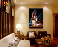 Popular design wall decor printed clown painting