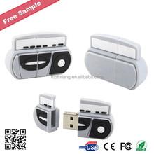 Custom Bulk Radio Shape USB Flash Drive for promotional gifts